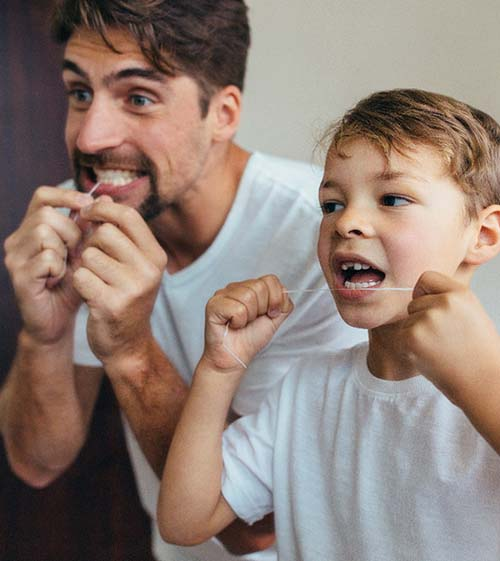 Smile with chipped front tooth