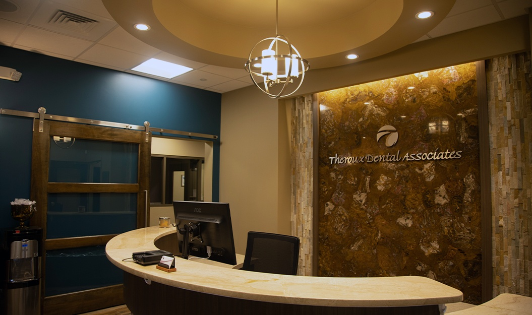 Reception area of Theroux Dental Associates dental office